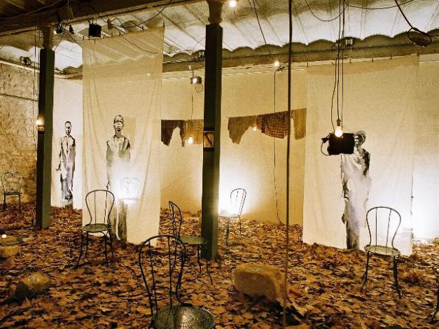 Installation avec Bruce Clark