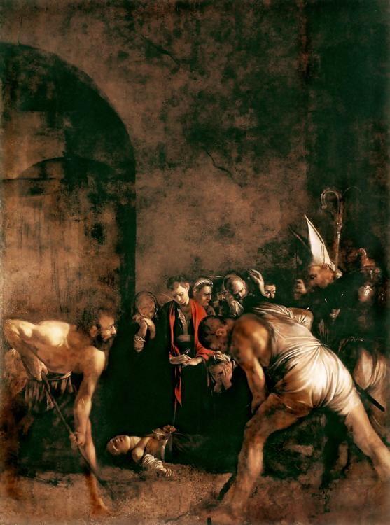 Michelangelo Merisi da Caravaggio, dit Le Caravage. Huile sur toile, 408 x 300 cmSanta Lucia, Syracuse