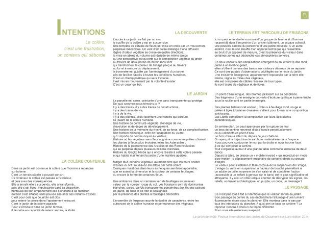 Page 2 Jardin de Khôlé du Dossier Chaumont s Loire